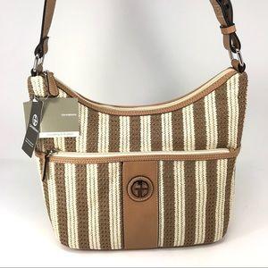 Giani Bernini Striped Signature Stripe Hobo Bag